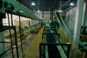 bag receiving & cutting system
